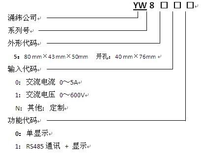 yw8500系列交流智能数显表