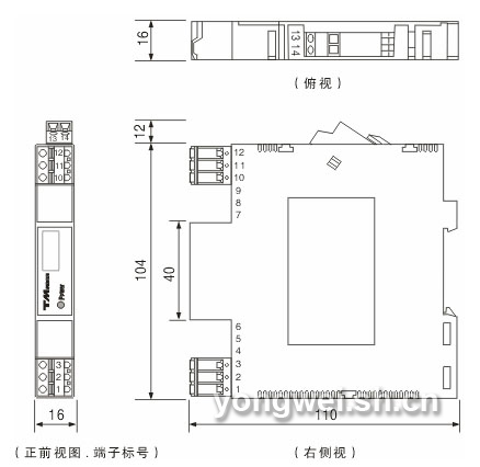 gd8082热电阻输入信号隔离器(一入一出)-中自科技